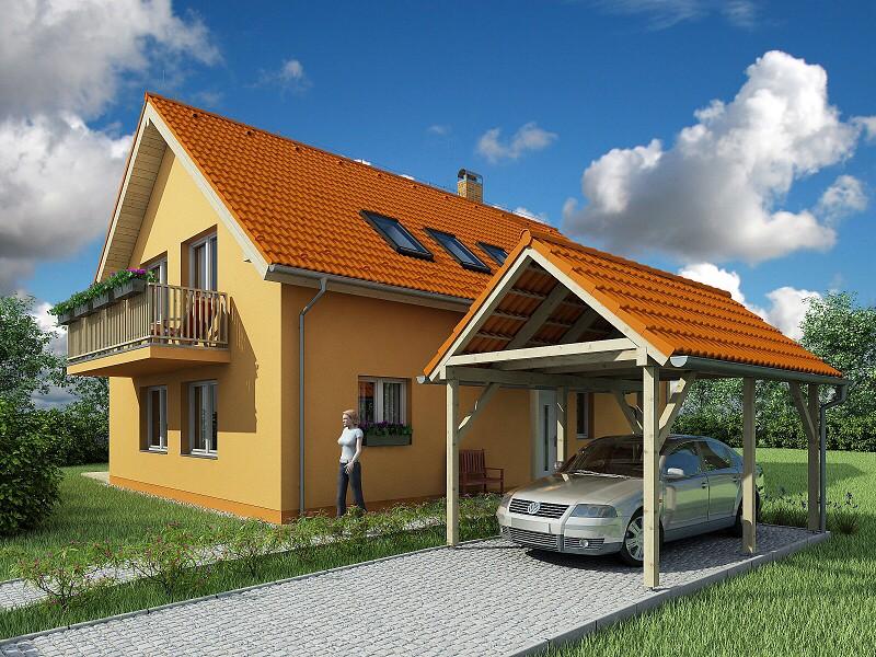 vizualizace rodinného domu Nymburk