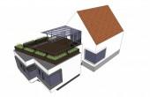 návrh přístavby rodinného domu Modřany