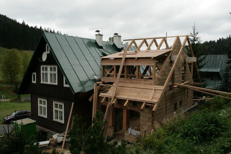 přístavba chalupy v obci Rýžoviště