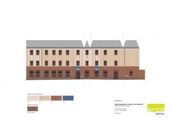návrh fasády domu Nymburk