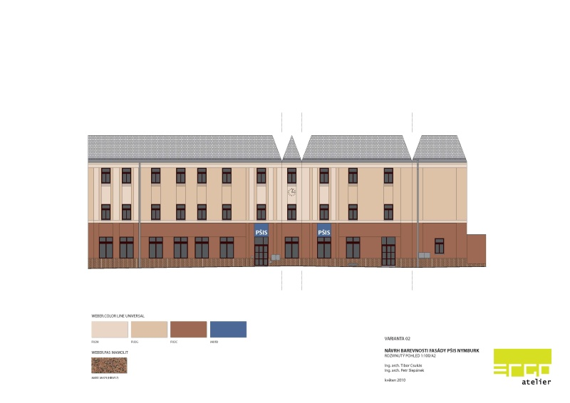 návrh fasády Nymburk
