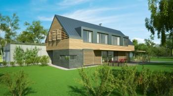 studie novostavby nízkoenergetického rodinného domu Velká Dobrá