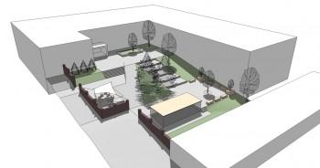 návrh revitalizace parteru základní školy Bílina