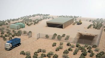 vizualizace kompostárny v Jemenu