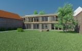 ukázka z projektu vesnického domu na vesnici