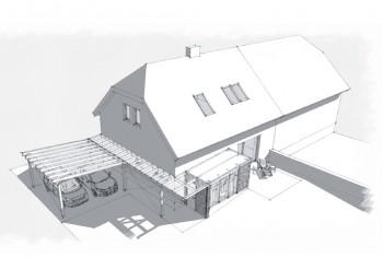 rekonstrukce rodinného domu Unhošť