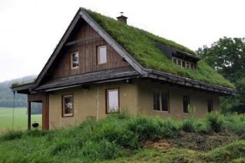 šikmá zelená střecha