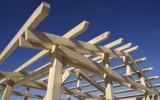 ukázka dřevěné nosné konstrukce domu