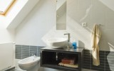realizace návrhu koupelny v podkroví