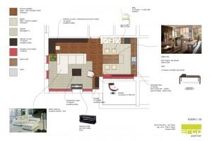 ukázka z návrhu interiéru bytu