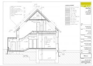 ukázka ze stavební části projektu - řez