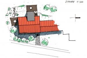 skica situace stavby