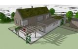 hmotový model vesnického domu