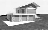 varianta hmotového konceptu rodinného domu