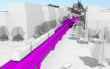 hmotový model železniční dráhy