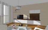 hmotový model interiéru