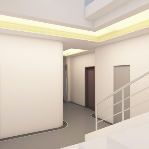 Rekonstrukce interiéru bytového domu Praha 8